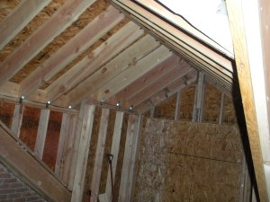 New roof in the master bedroom